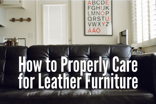How to Properly Care for Leather Furniture
