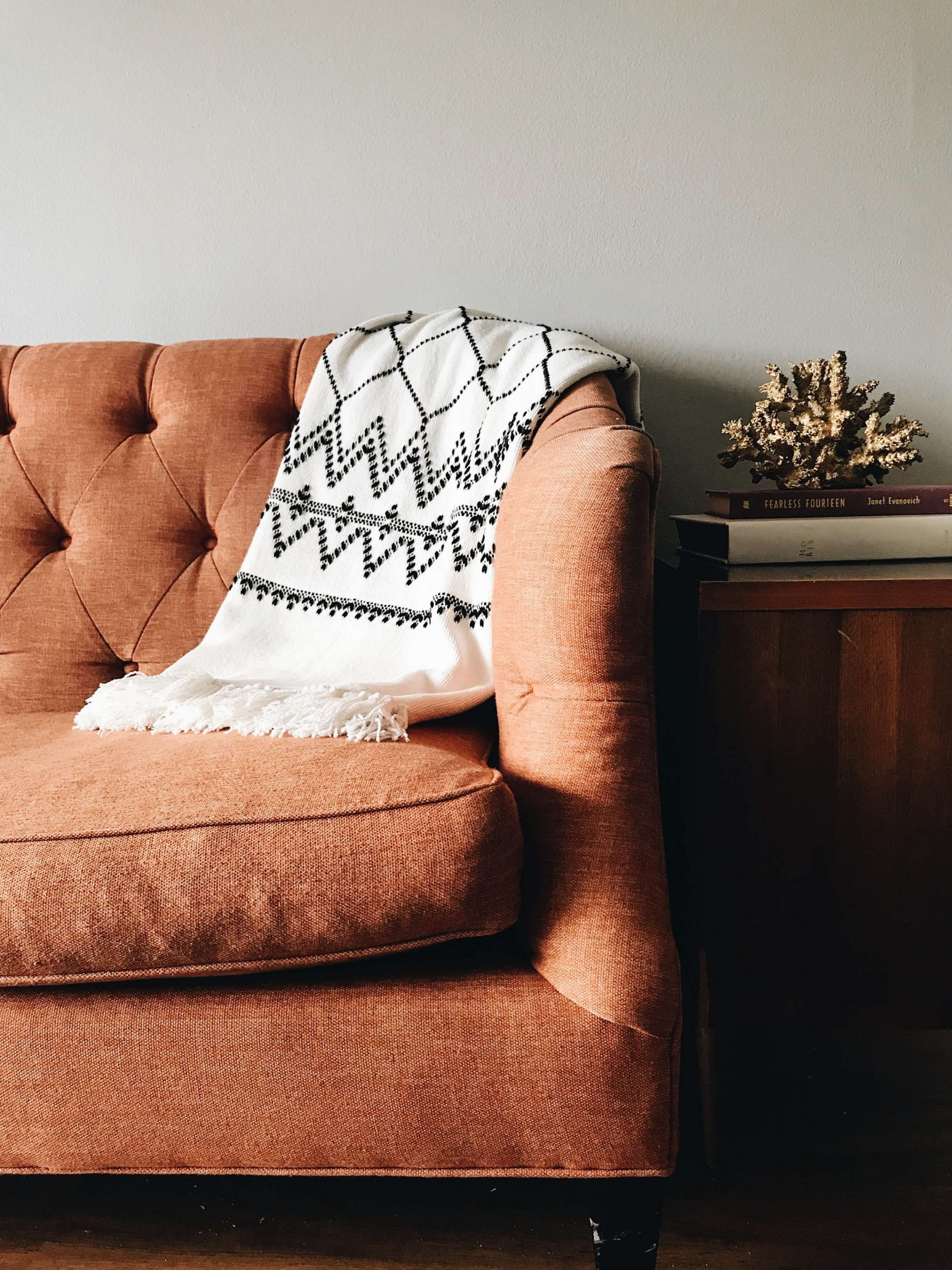 a nice upholstered chair in a sunset district home that we cleaned.