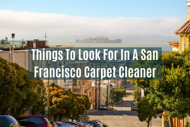 Things To Look For In A San Francisco Carpet Cleaner
