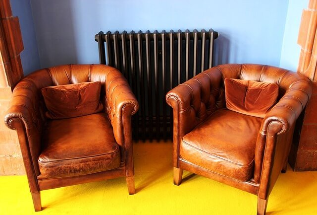 leather seats in a therapist's office
